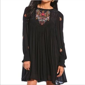 NWT Free People Mohave Floral Embroidered Dress